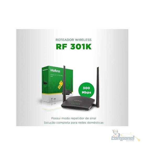 Roteador + Repetidor Intelbras RF 301K preto
